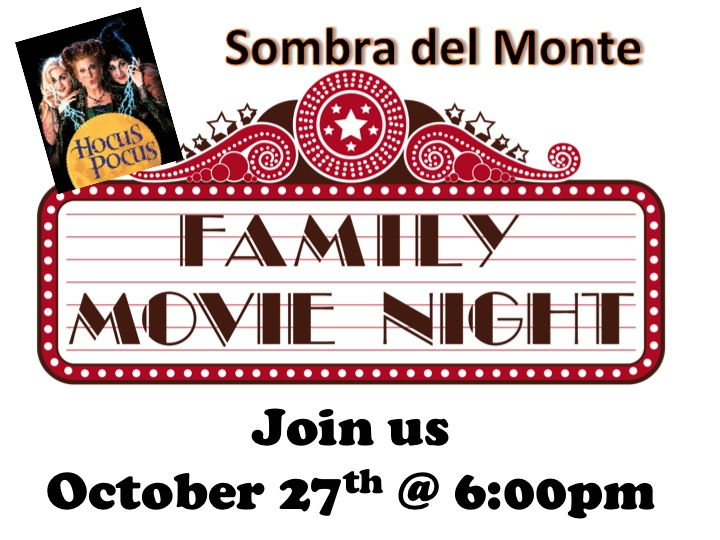 Family Movie Night Oct. 27th
